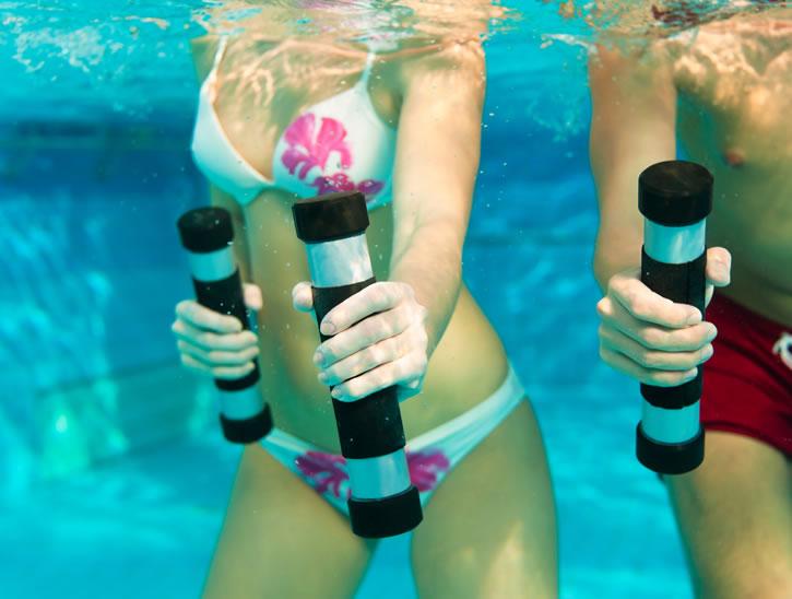 fitness aquatique - exercice aquagym - cours aquagym