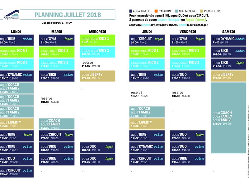 Aquapassion_planinng cours aquagym romans_Juillet 2018