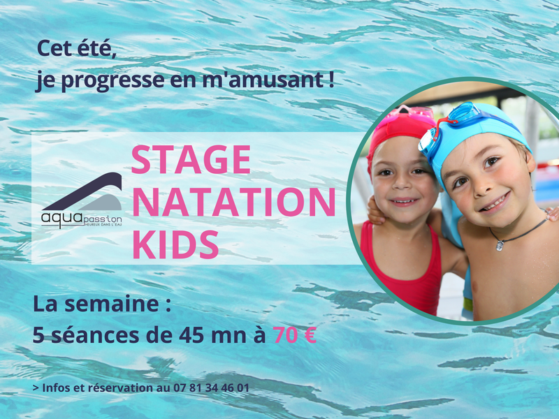 Aquapassion stages été enfants