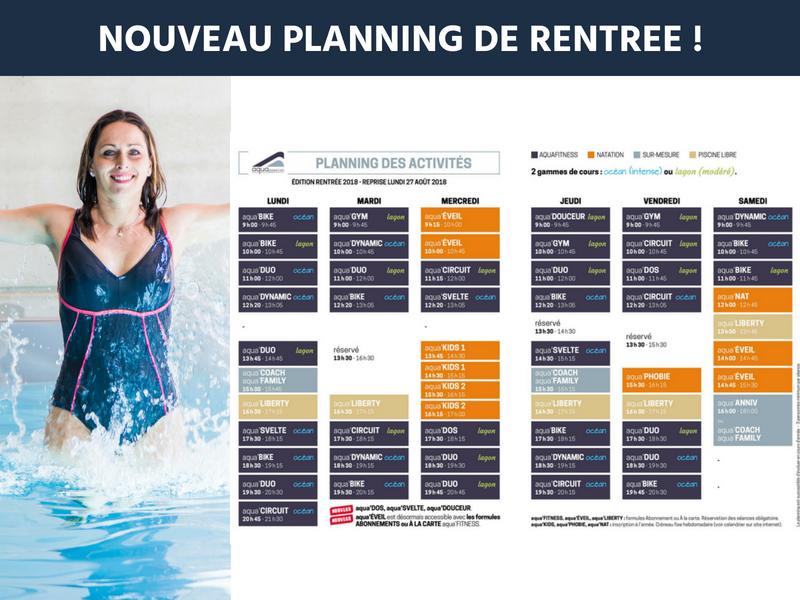 Aquapassion_planning aquagym et activités club aquatique_septembre 2018